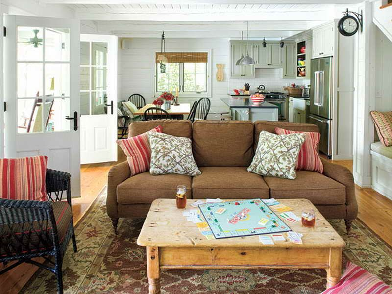 Cottage Living Room Furniture Part - 18: Comfortable Cottage Living Room Furniture