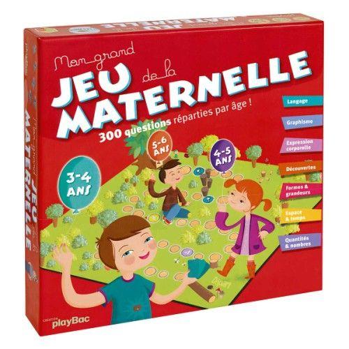 Mon grand jeu de la maternelle par Oxybul est un jeu de société pour les enfants de 3 à 6 ans ...