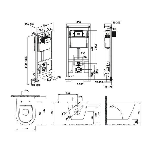 Casier bouteilles - hauteur 780 mm - Caissons, Caissons et portes - plan cuisine restaurant normes