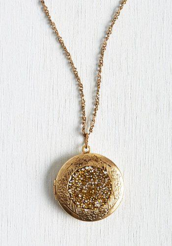 Locket Full of Sunshine Necklace | Mod Retro Vintage Necklaces | ModCloth.com