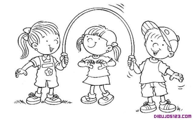 Dibujo De Niãos Saltando A La Comba Dibujo De Niños