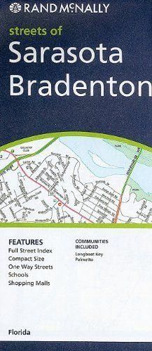 Map Of Bradenton Florida.Rand Mcnally Streets Of Sarasota Bradenton Florida By Rand Mcnally