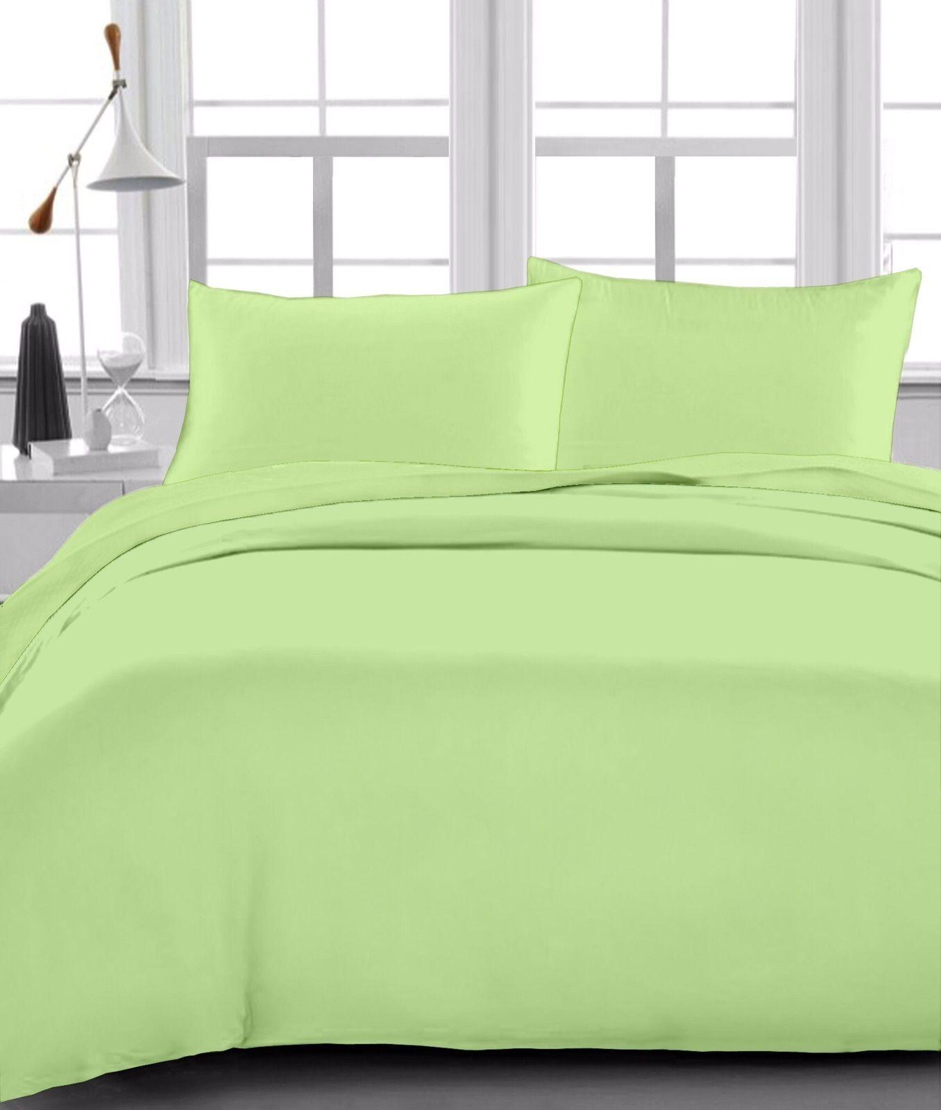 Stylish 1 Qty Flat Sheet Organic Cotton 1000 Thread Count Sage Solid