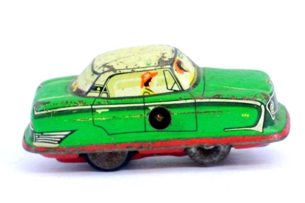 Vintage 1960 Tin Metal Wind Up Car For Parts or Fix Up | OLD TOYS ...