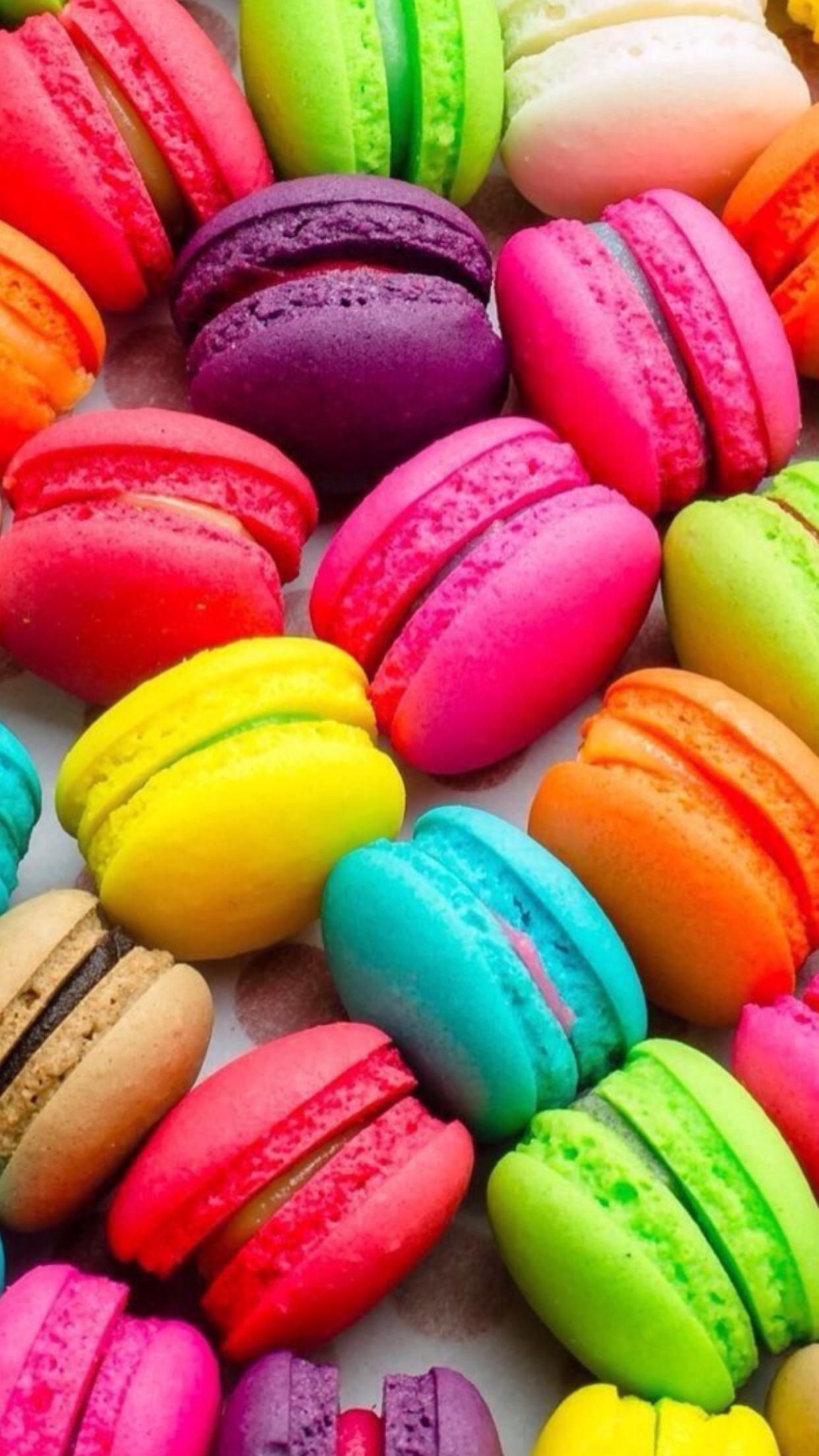 Pin De Meagan Fulmer Em Macarons Doces Coloridos Macaroons Imagem De Fundo Para Iphone