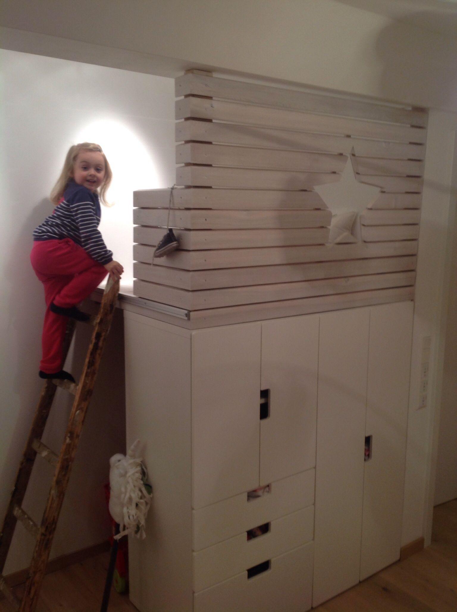 Kuschelecke ikea stuva kinderzimmer pinterest for Ikea stuva hochbett
