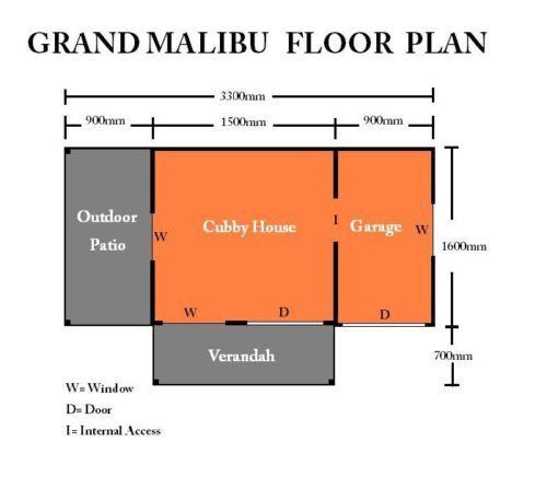 Tuff cubbies grand malibu floor plan cubby house for Malibu house plans