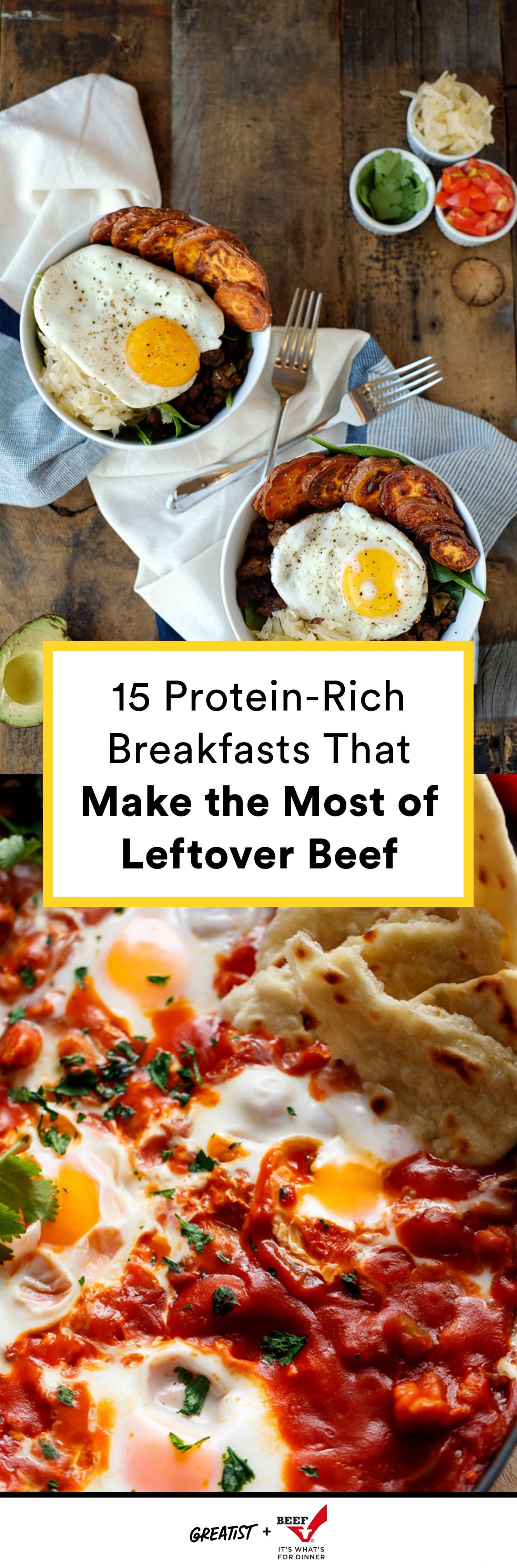 High-Protein Breakfasts Made With Leftover Beef
