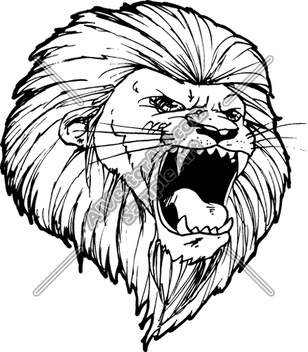 Gallery For > Lion Roar Line Drawing | Senior T Shirt ...