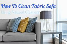 Cloth Sofa Cleaning Products Mayfair Slipcovered With Chaise How To Clean Fabric Using Natural Cleaners