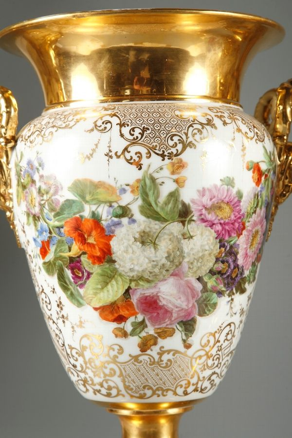 Porcelain Pair Of Vases Marked Jacob Petit Porcelain Pinterest