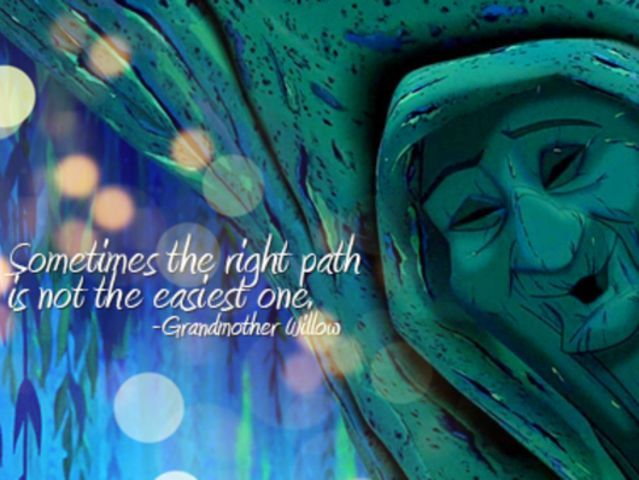 Pocahontas Sometimes The Right Path Is Not The Easiest One Children/'s Print