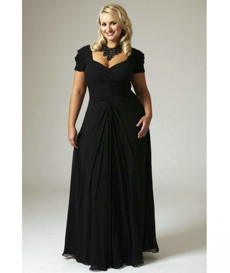 black chiffon bridesmaid dresses plus size
