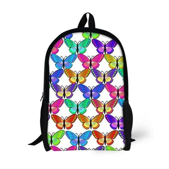 63078ae7ac7 FORUDESIGNS Children School Bags for Teenagers Girls Cute 3D Butterfly  Printing Kids Book Bags Student Backpack Satchel Mochilas