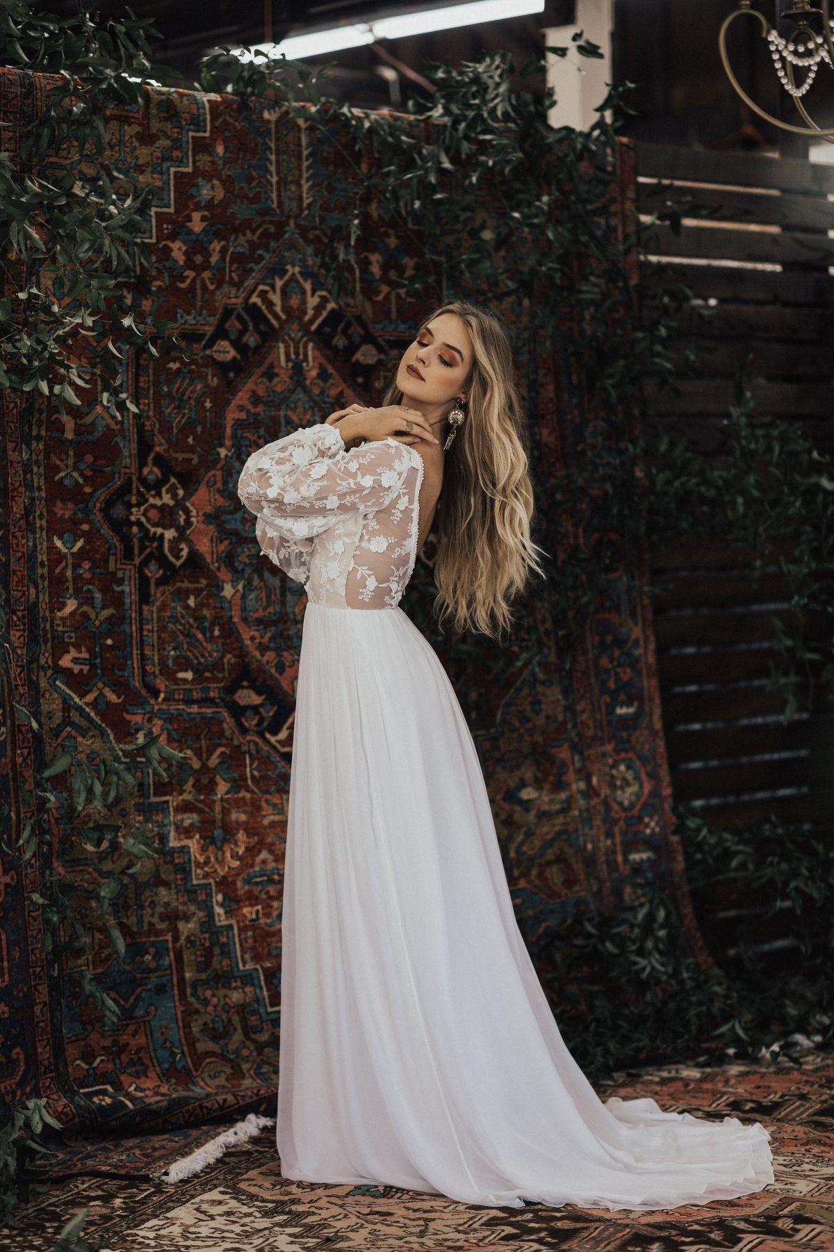 Yaya Lace And Silk Wedding Dress Green Wedding Dresses Blue Wedding Guest Dresses Silk Chiffon Wedding Dress [ 1800 x 1200 Pixel ]