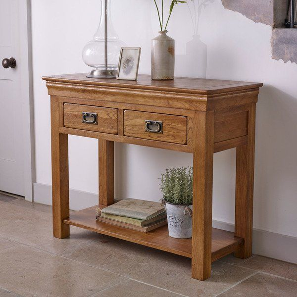 Rustic Solid Oak Console Tables Console Table French Farmhouse Range Oak Furnitureland Solid Oak Furniture Farmhouse Sofa Table Console Table Living Room