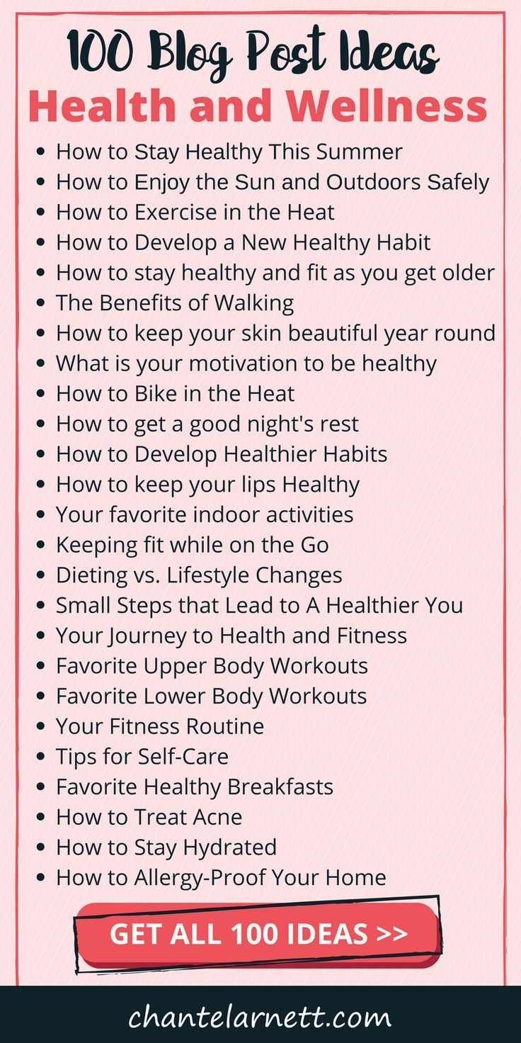 If you have a brand new health and wellness blog or you're just looking for some fresh ideas, read o...