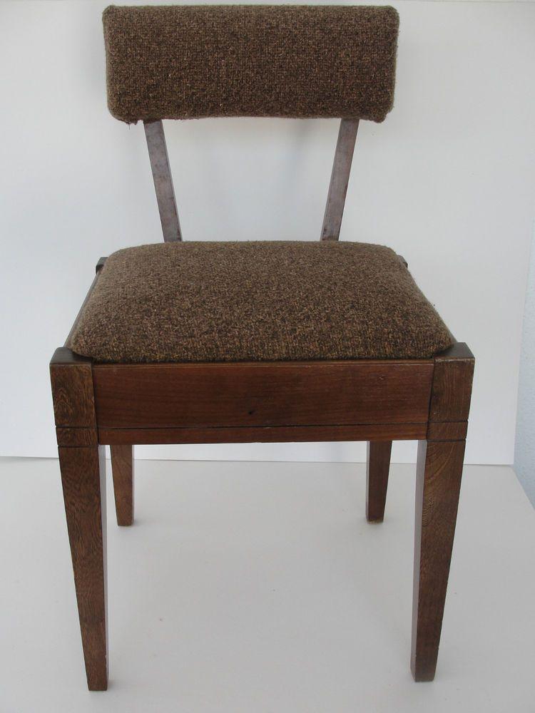 Vintage Mid Century Modern Singer Sewing Chair W/ Storage