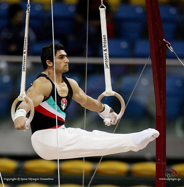 Hanging around in an seated iron cross