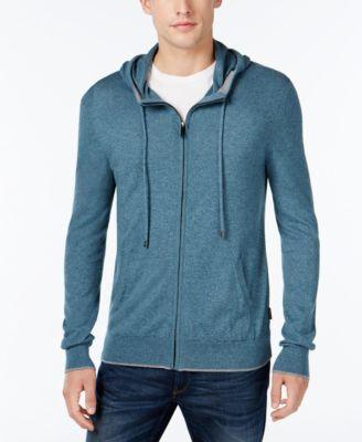 MICHAEL KORS Michael Kors Men's Marled Knit Zip-Front Hoodie. #michaelkors #cloth # hoodies