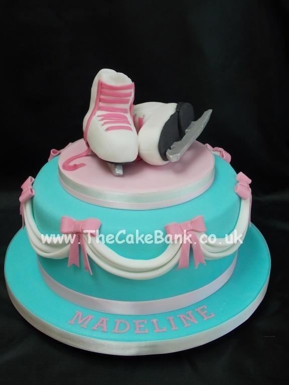 Ice Skating Cake Cake By The Cake Bank Birthday Cakes