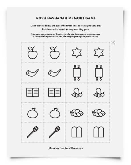 Downloadable Rosh Hashanah Activity