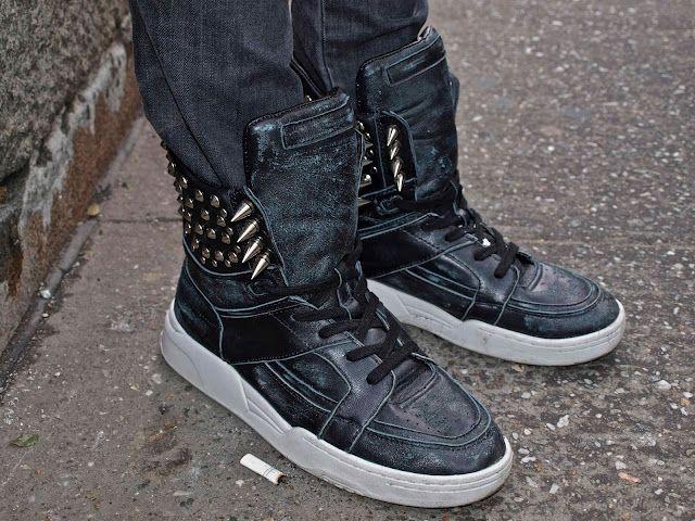 worn SSDB sneakers