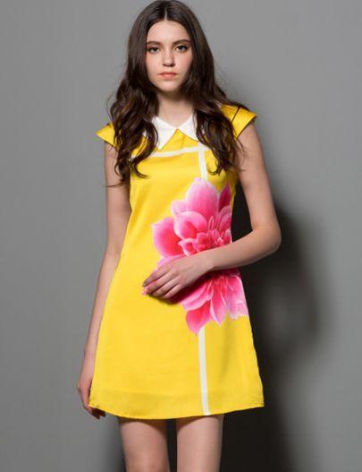 0baef73b25 Sleeveless Floral Silk Dress