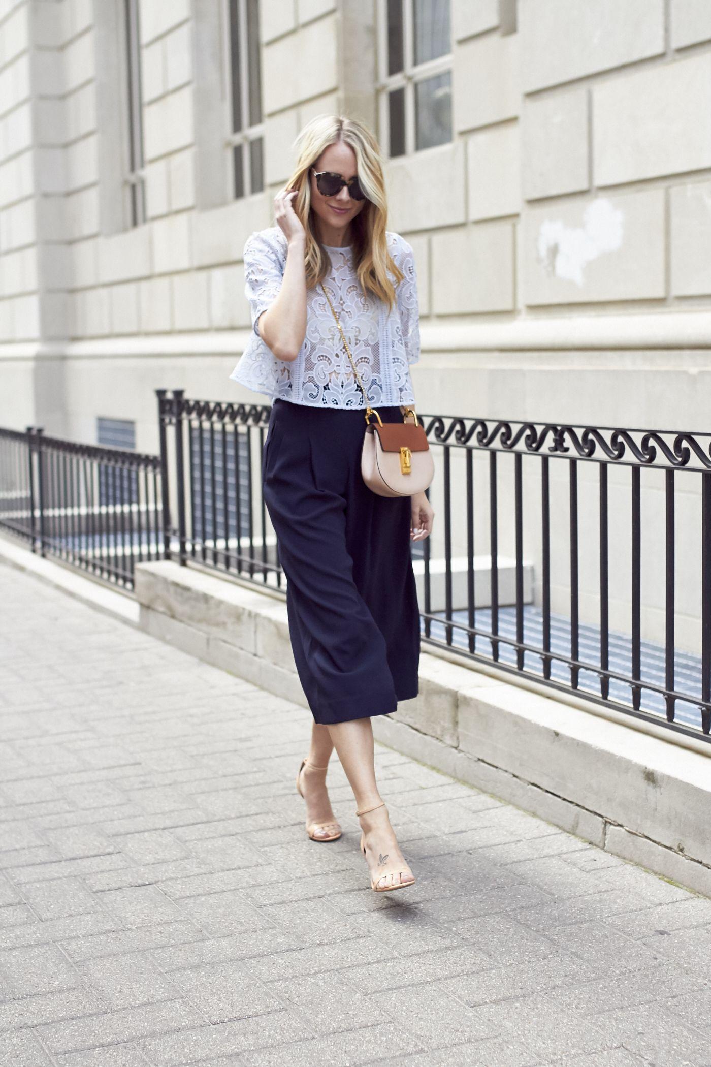 Chloé tailored culottes - Azul k4i5E9czCx
