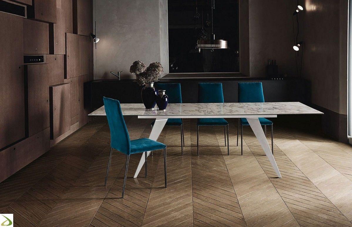 Tavolo design da soggiorno Ramos di Bontempi | Arredo ...