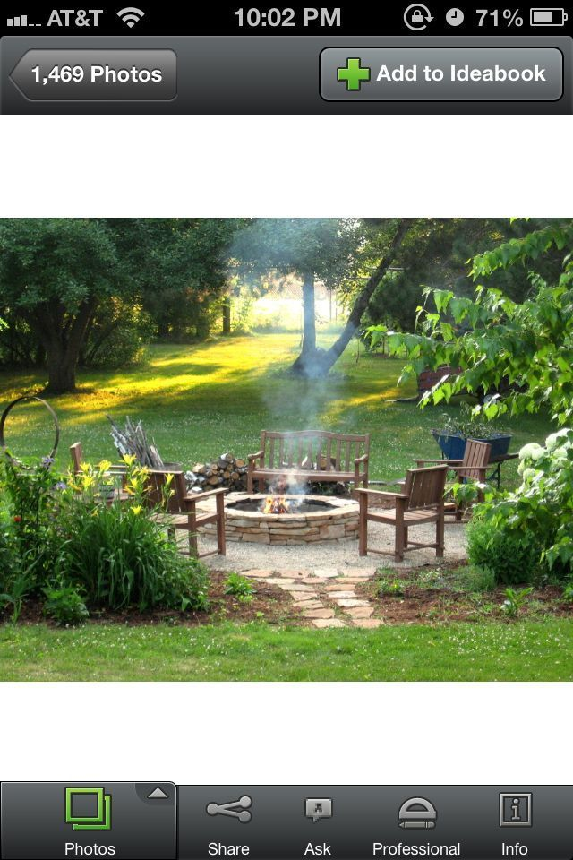 Backyard do it yourself firepit area! Cute and wouldn't ...