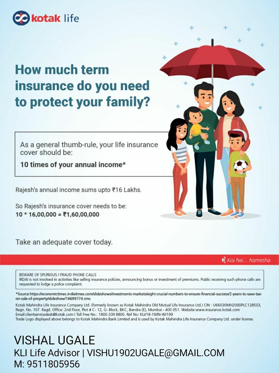 Pin By Vishal Ugale On Kotak Life Insurance Advisor Protect Family