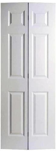 Mastercraft 24 X 80 Prefinished White 6 Panel Woodgrain Colonist 2 Leaf Bifold Door At Menards Interior Closet Doors Bifold Doors Bifold Closet Doors
