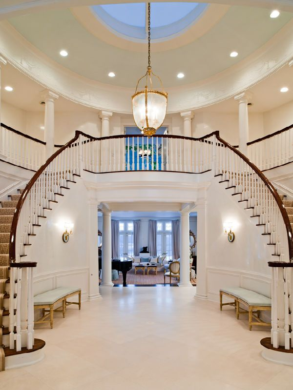 Two Way Staircase House Stairs Dream House House Styles