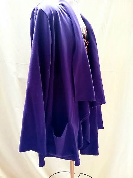 PURPLE XL Vintage Jacket Knitted jacket plus by blingblingfling