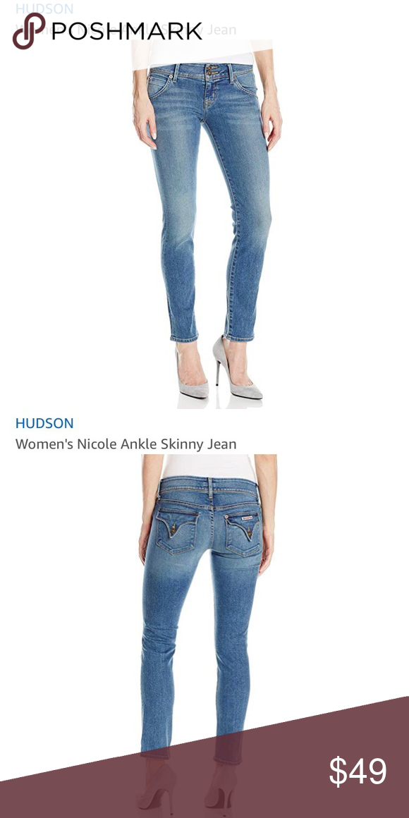 631a3534 Hudson Nicole Ankle Skinny Jeans Size 24 Hudson Nicole Ankle Skinny Jeans  Size 24 Light wash, knee slit Perfect condition Hudson Jeans Jeans Ankle &  Cropped