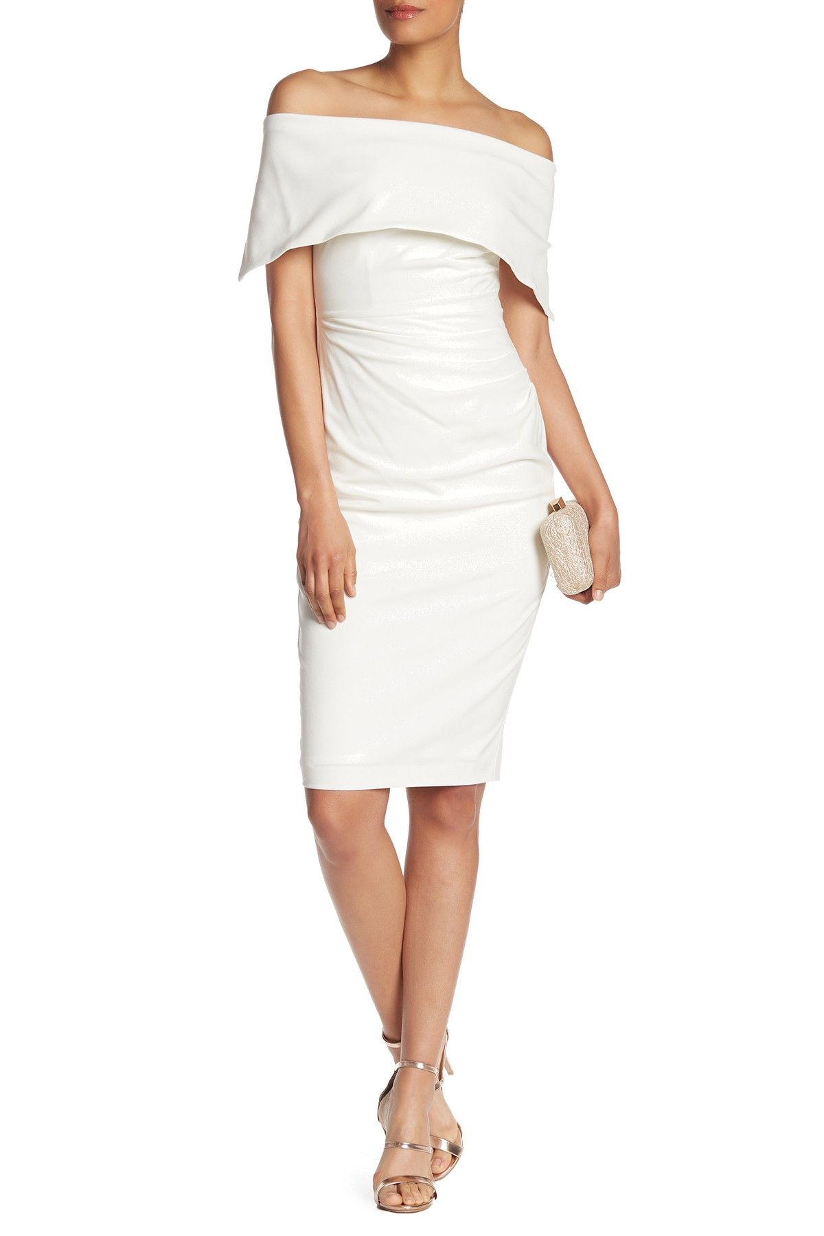 Off The Shoulder Sheath Dress By Vince Camuto On Nordstrom Rack Sheath Dress Dresses Nordstrom Dresses [ 1800 x 1200 Pixel ]