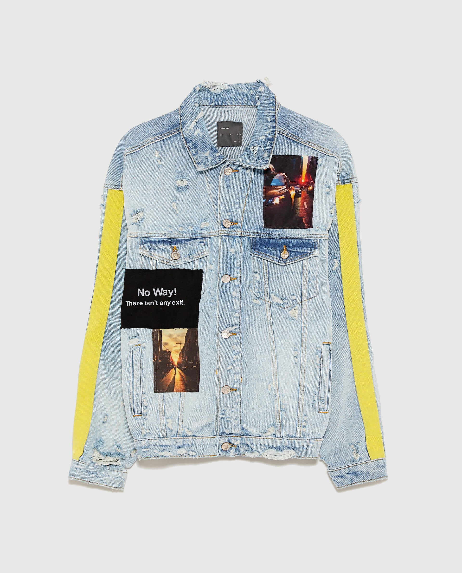 a0f20586053ec Image 8 of OVERSIZED DENIM JACKET WITH PATCH DETAILS from Zara ...