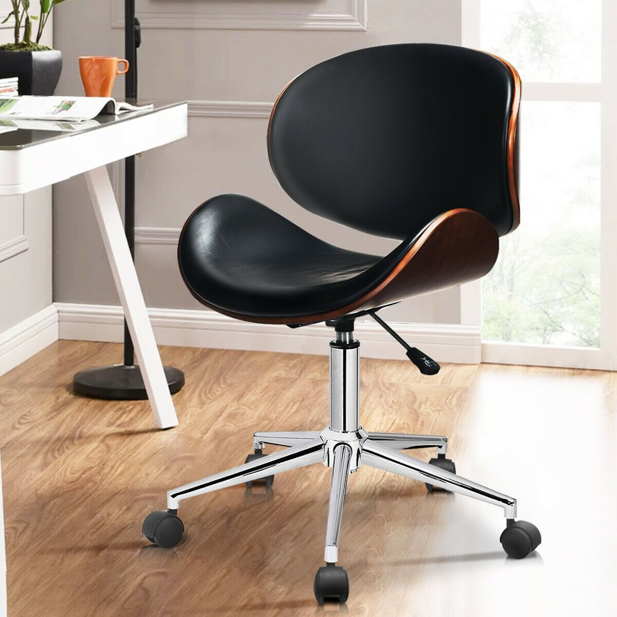 Bentwood Mid Century Executive Height Adjustable Swivel Office