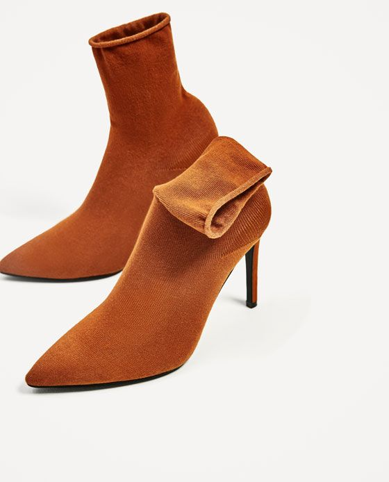 Image 7 of HIGH HEEL SOCK STYLE ANKLE BOOTS from Zara