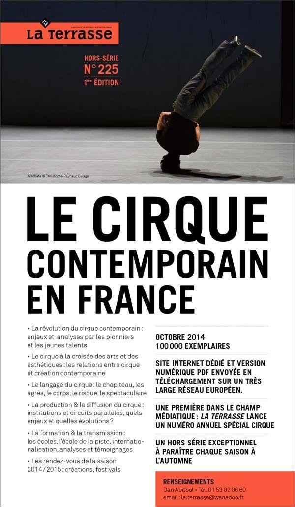 le cirque contemporain en France la Terrasse, hors-série -  n°225, octobre 2014