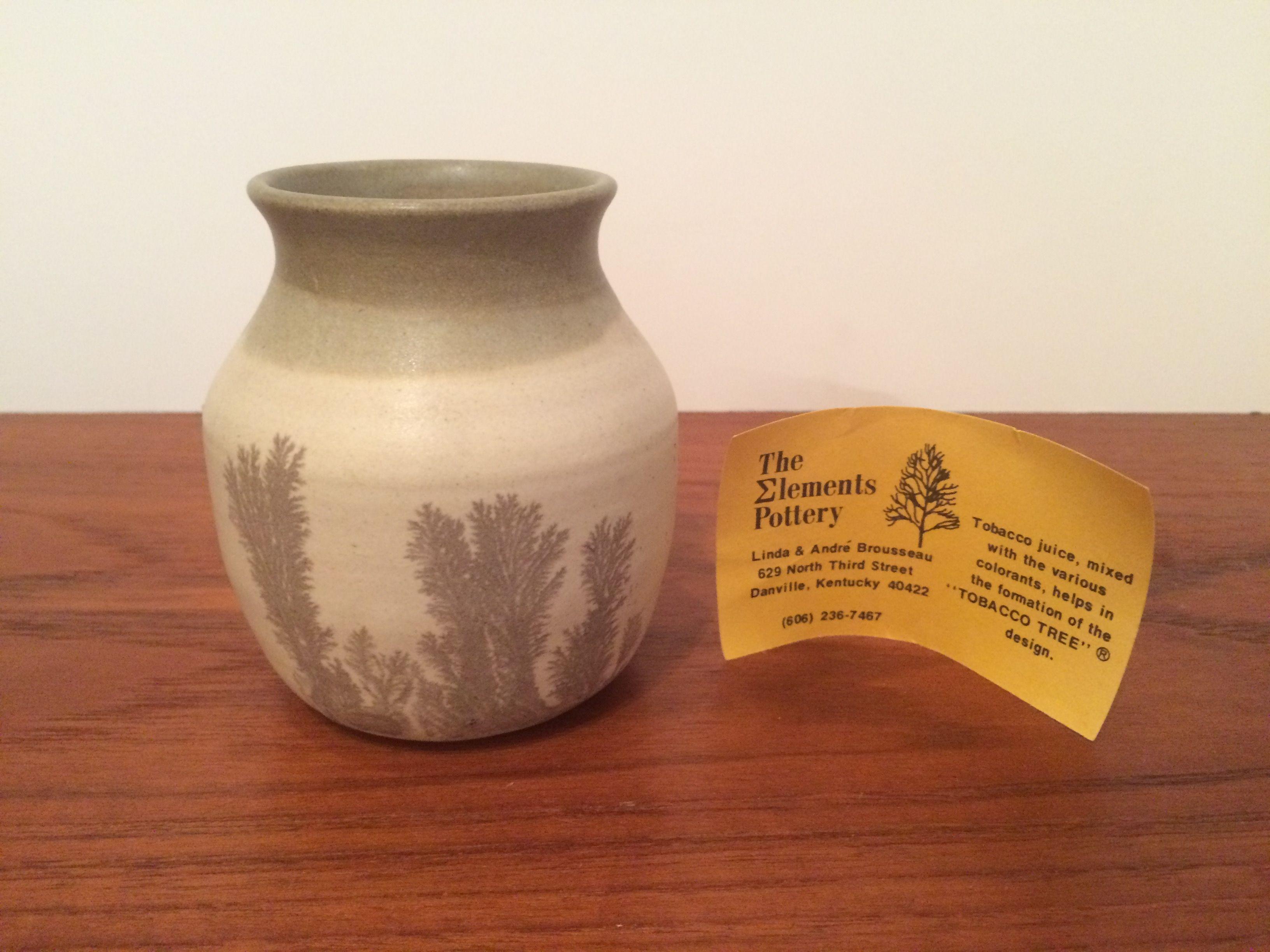Pottery vase w tobacco juice glaze by the elements pottery signed handmade pottery reviewsmspy