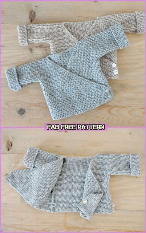 Photo of Easy Knit Baby Kimono Cardigan Kostenlose Muster – Baby Cardigan Free Knittin …