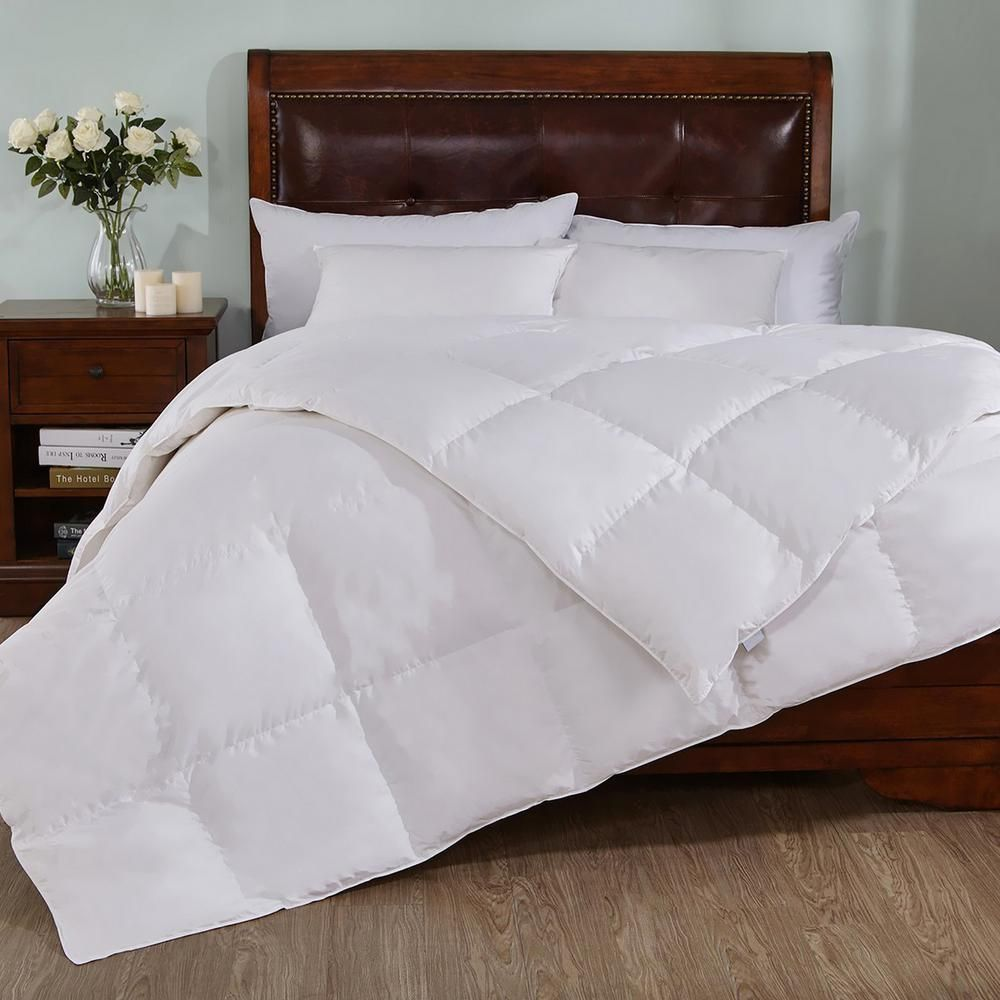 Peace Nest Extra Warmth White Twin Down Comforter Down Comforter