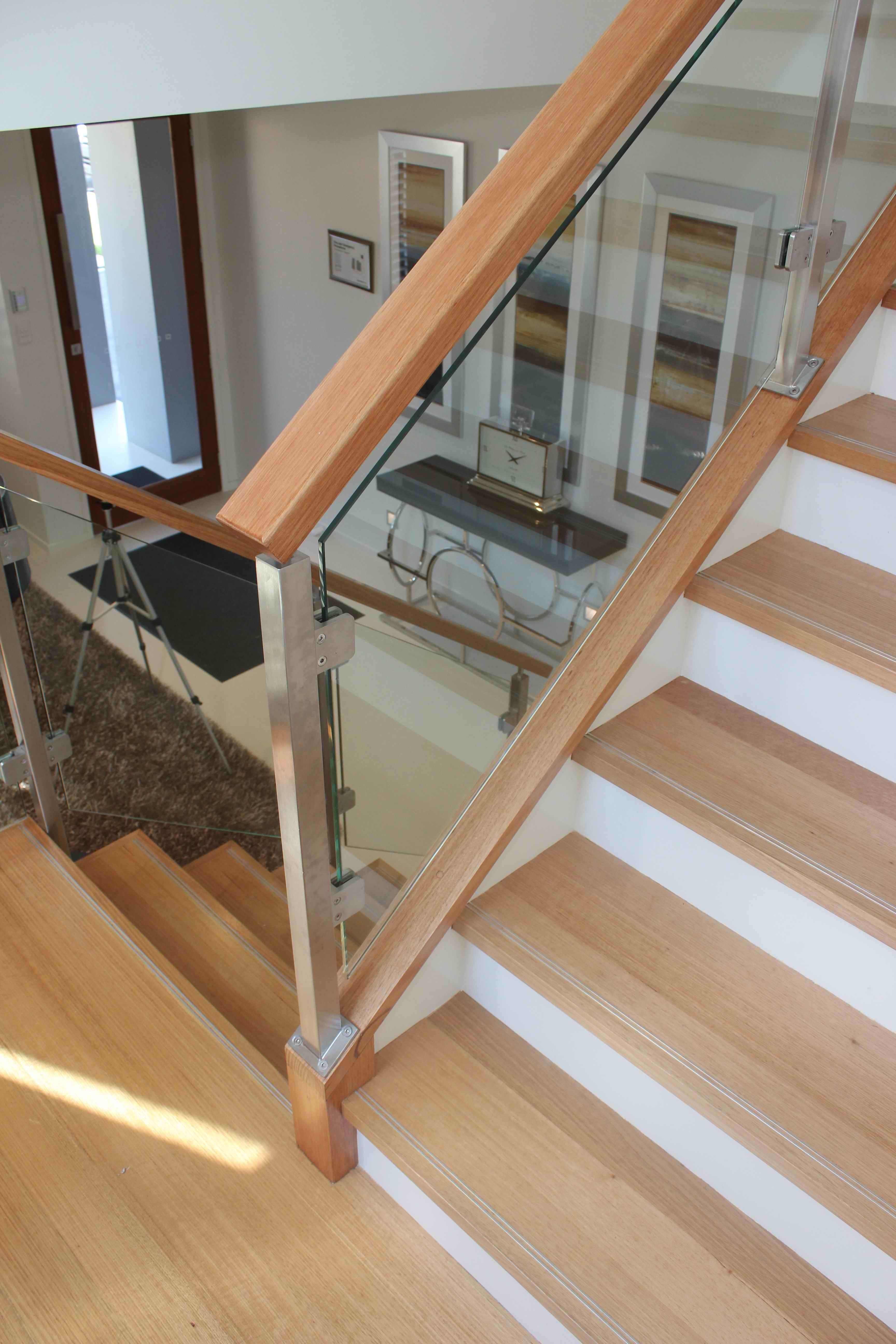 Best Timber Treads Handrail Glass Balustrade Stair Stairs 640 x 480