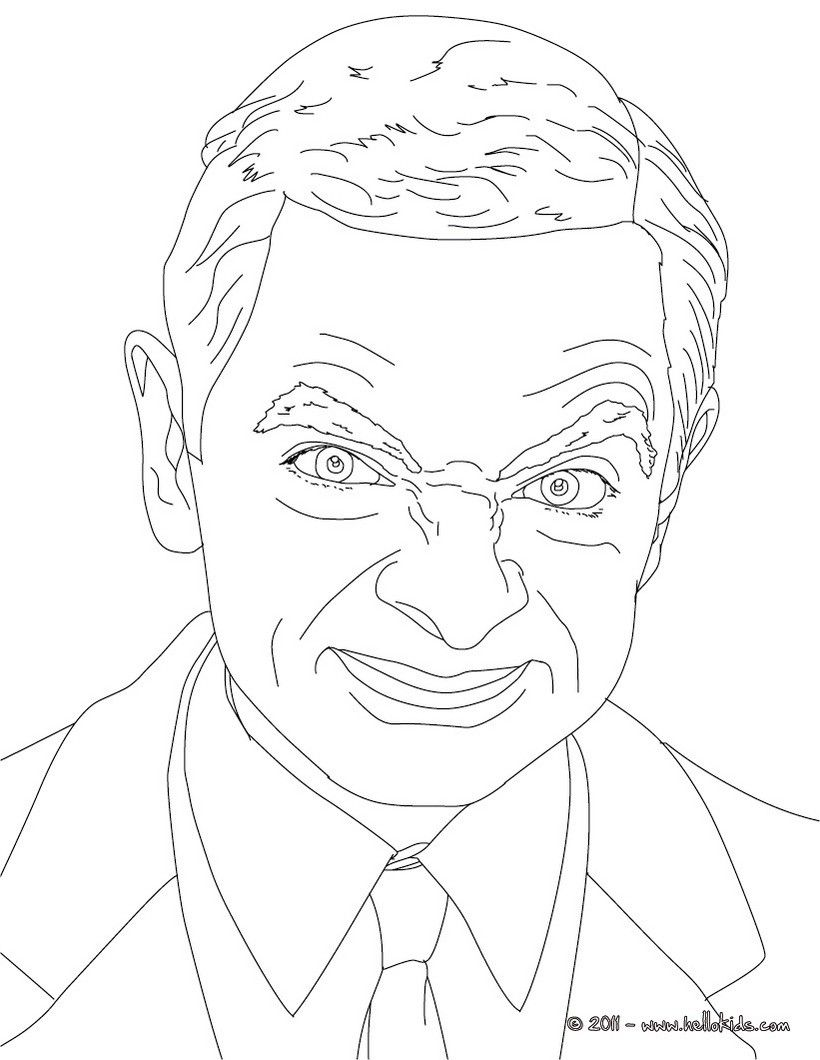 Mr Bean coloring page. More famous people coloring pages on ...
