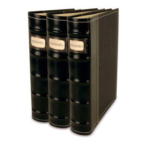Charmant Amazon.com: Bellagio Italia CD/DVD Storage Binders 3 Pack Black: Home U0026  Kitchen