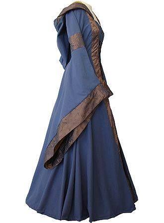 lavender Celtic dress Stredoveké Šaty 3423eb46d6