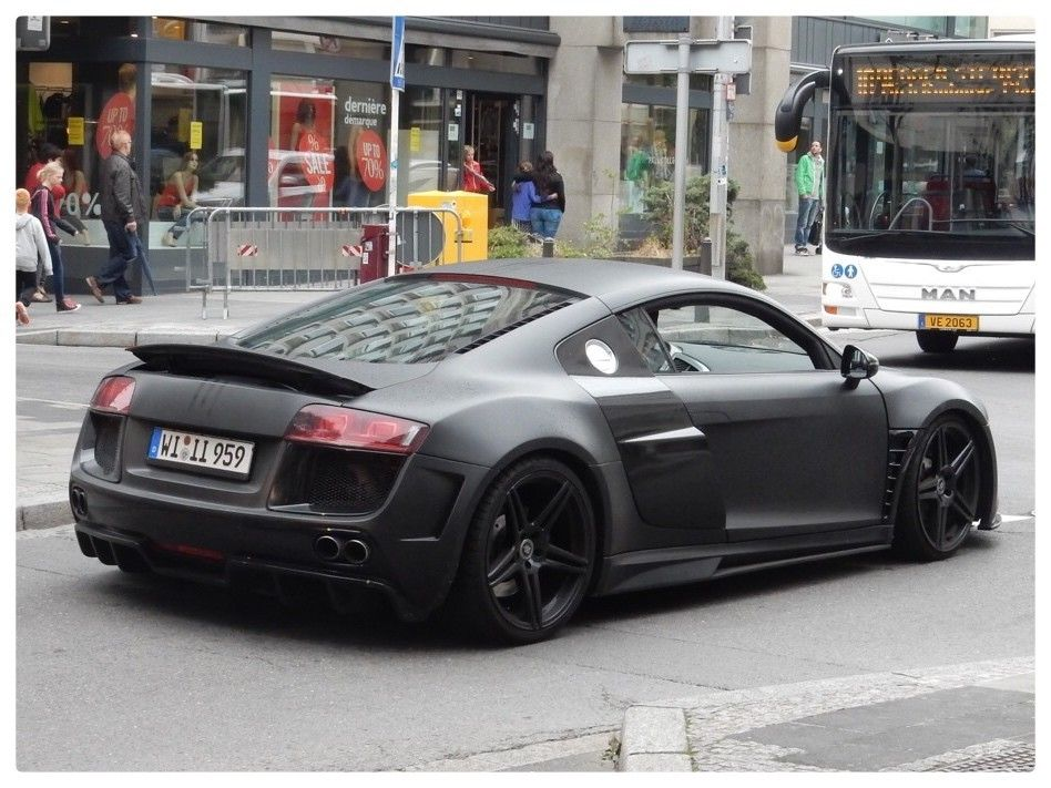 beautiful audi r8 matt black audi r8 pinterest. Black Bedroom Furniture Sets. Home Design Ideas