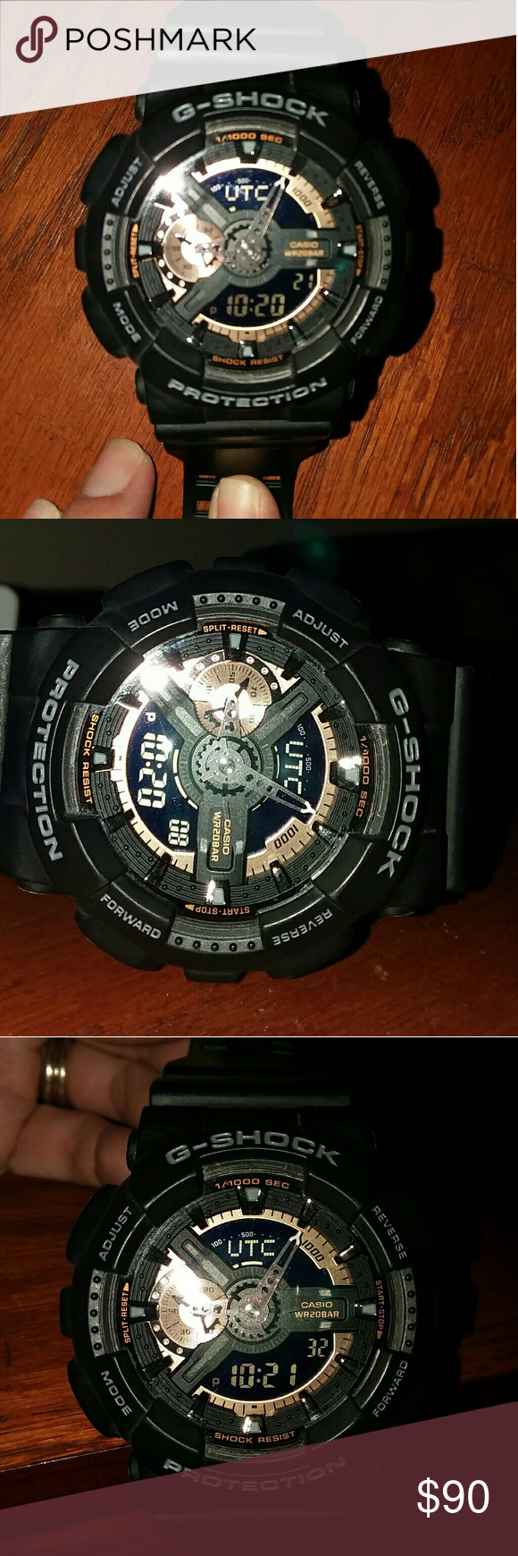Mens Casio G-Shock 5147 G-Shock Mens Analog Digital Black, Resin Strap Watch 51x55mm EUC G-Shock Accessories Watches